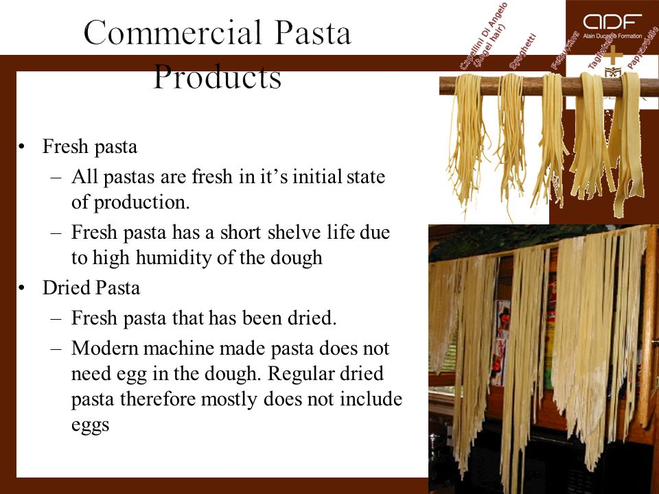 Commercial Pasta Products