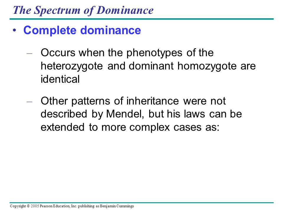 The Spectrum of Dominance