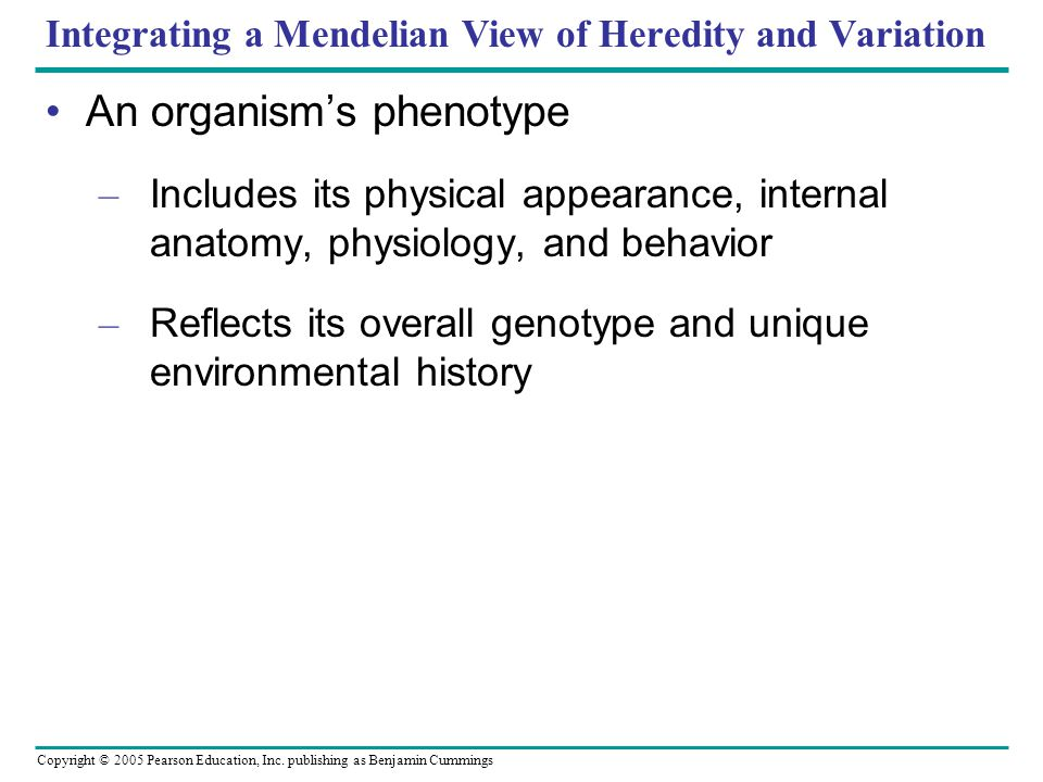 Integrating a Mendelian View of Heredity and Variation
