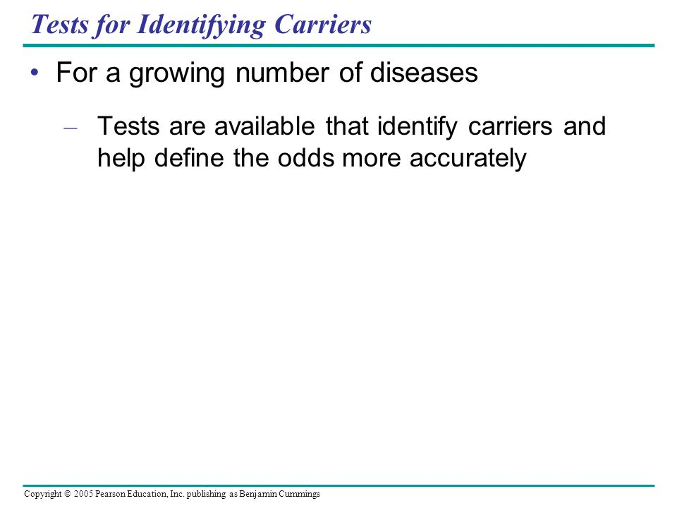 Tests for Identifying Carriers