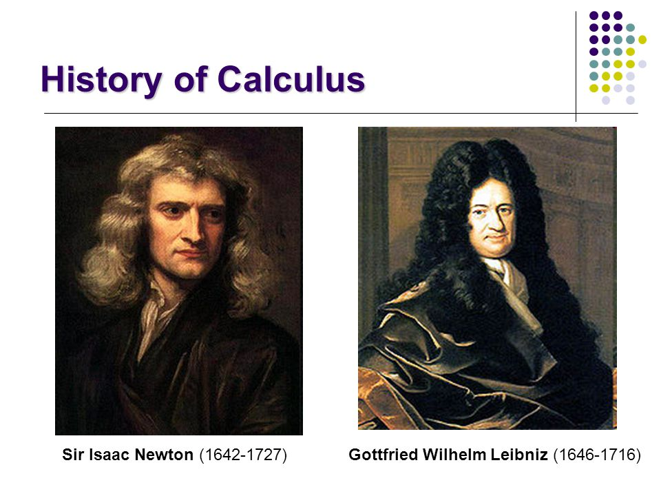History of Calculus Sir Isaac Newton (1642-1727)