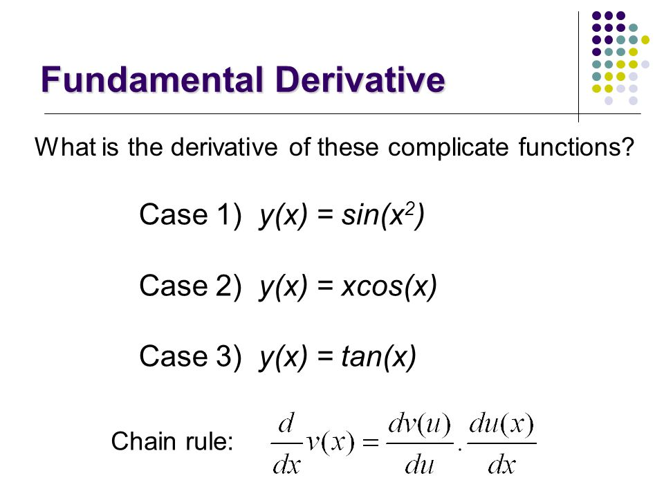 Fundamental Derivative