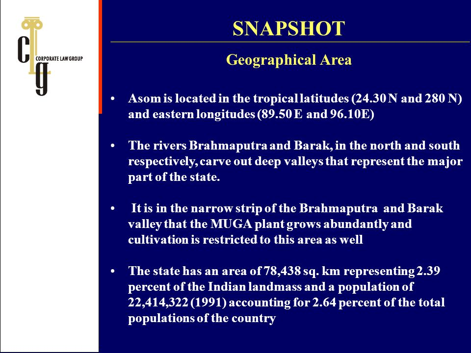 SNAPSHOT Geographical Area