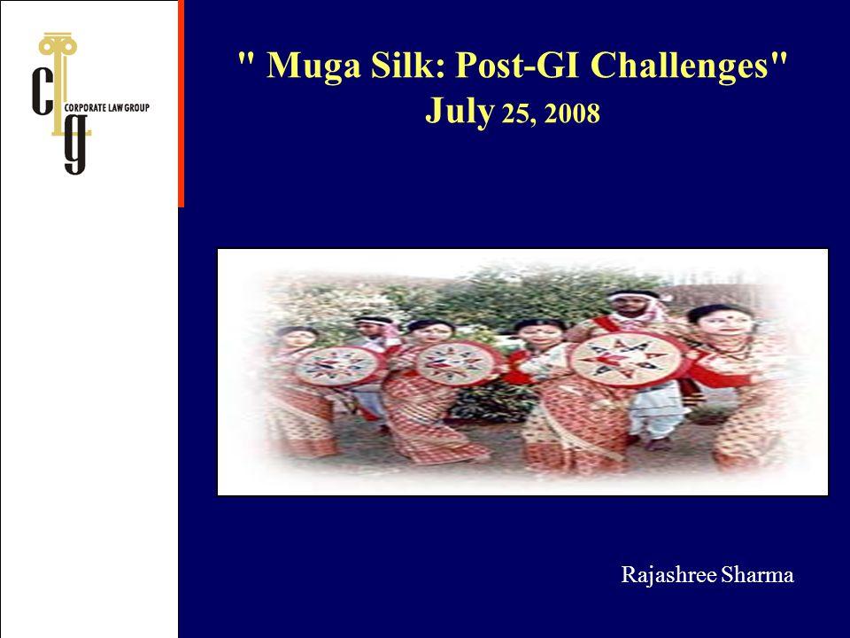 Muga Silk: Post-GI Challenges July 25, 2008