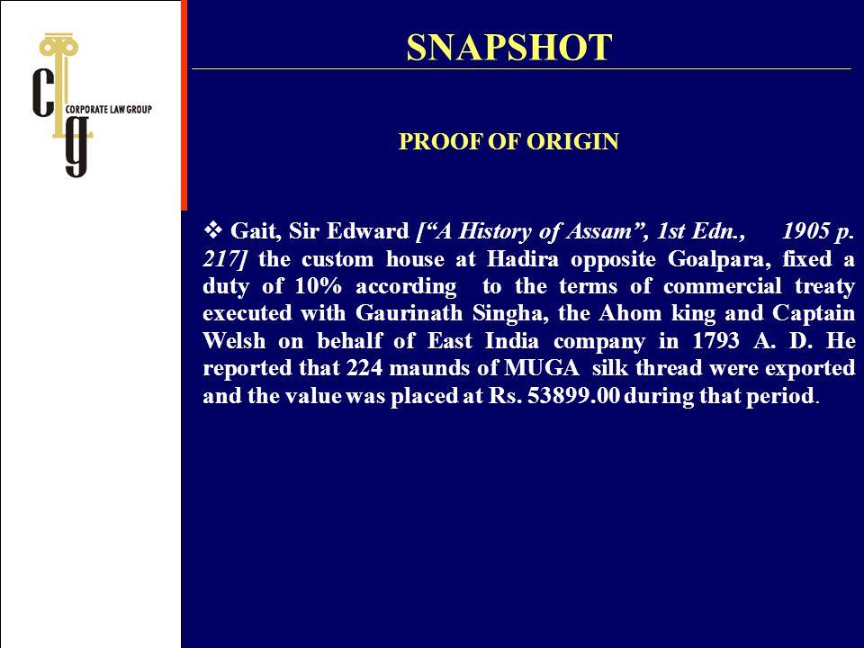 SNAPSHOT PROOF OF ORIGIN
