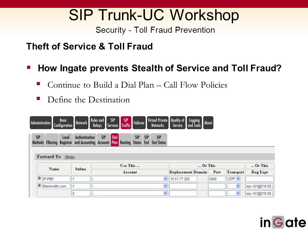 SIP Trunk-UC Workshop Security - Toll Fraud Prevention