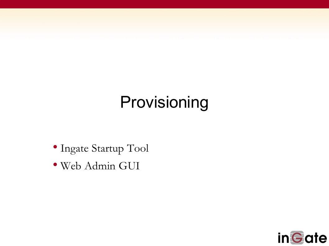 Ingate Startup Tool Web Admin GUI