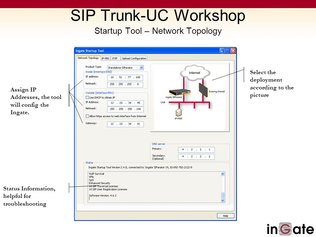 SIP Trunk-UC Workshop Startup Tool – Network Topology