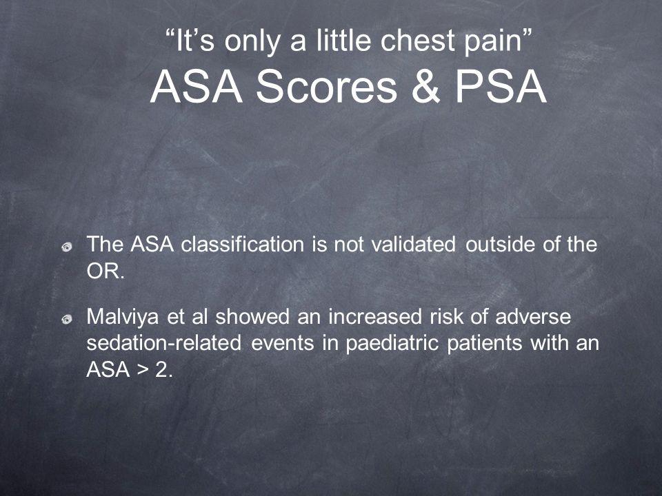 It's only a little chest pain ASA Scores & PSA