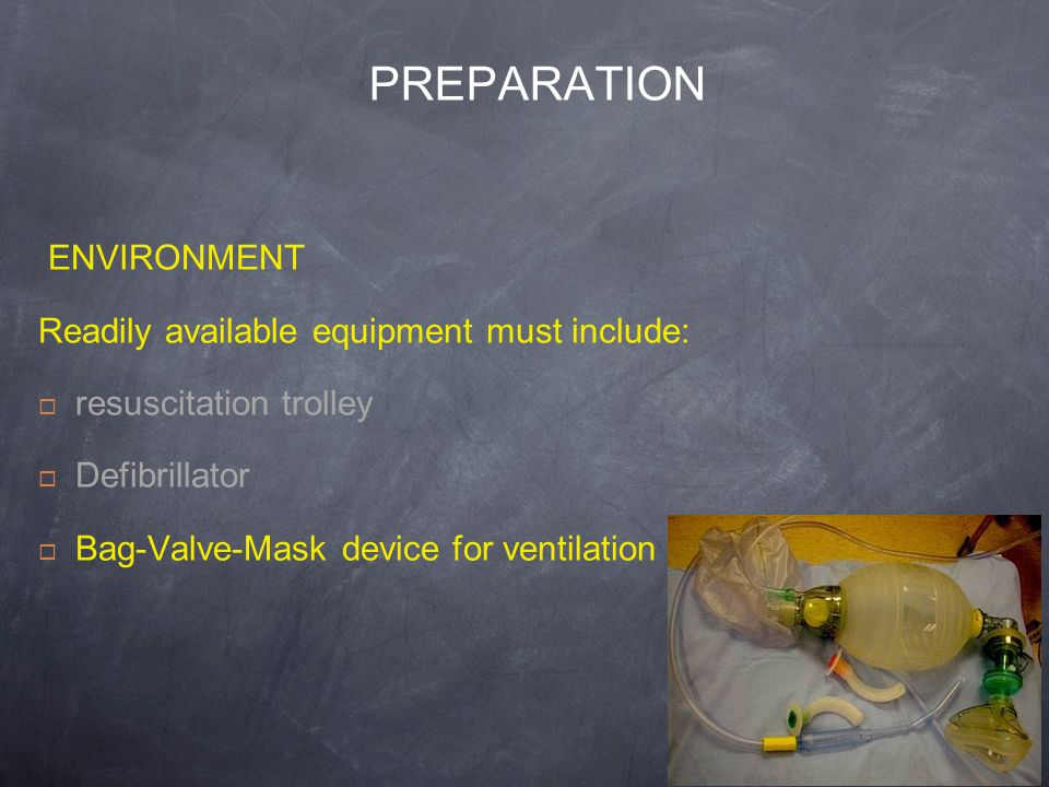 PREPARATION ENVIRONMENT Readily available equipment must include: