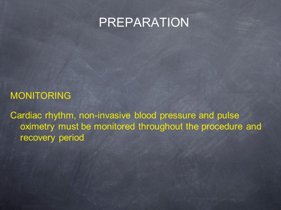 PREPARATION MONITORING