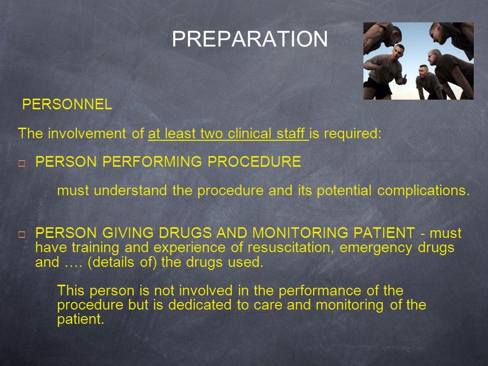PREPARATION PERSONNEL
