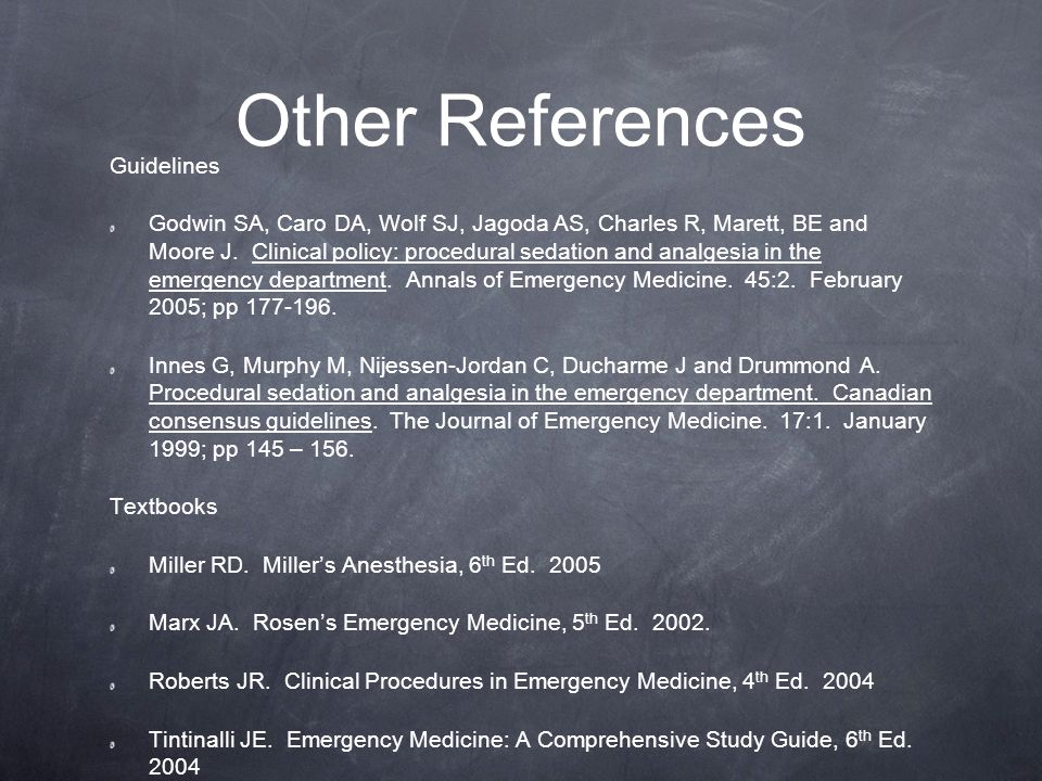 Other References Guidelines