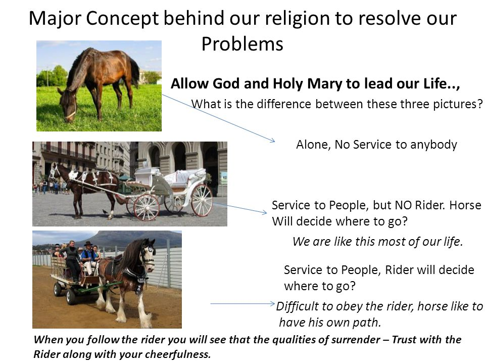 Allow God and Holy Mary to lead our Life..,