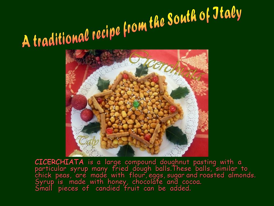 A traditional recipe from the South of Italy