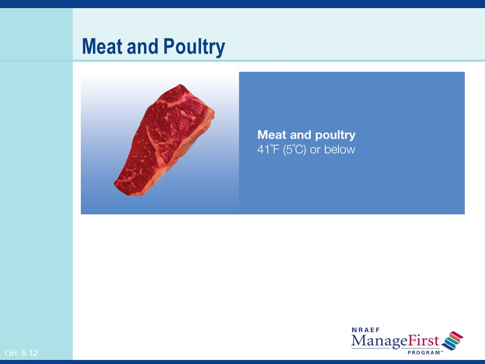 Meat and Poultry Instructor's Notes