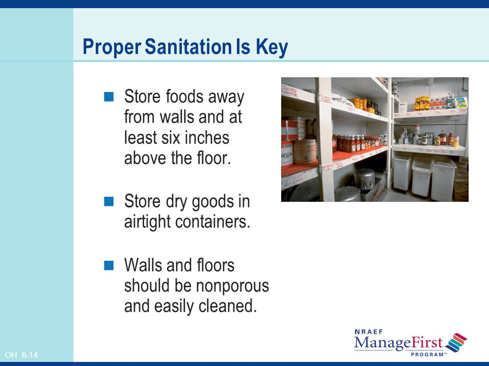 Proper Sanitation Is Key