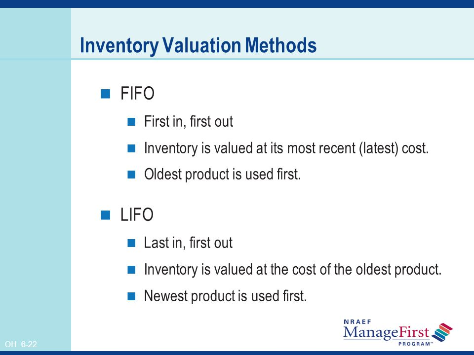 Inventory Valuation Methods