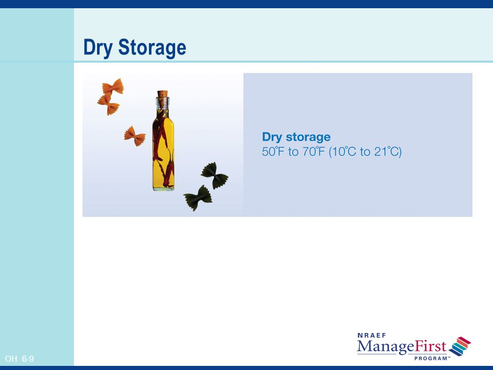Dry Storage Instructor's Notes