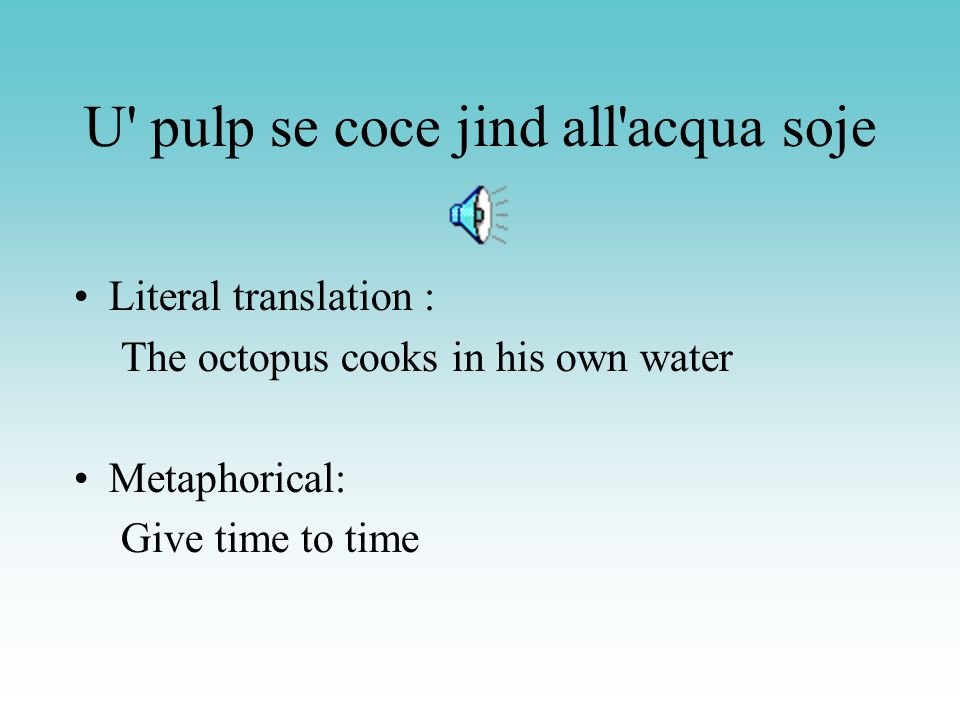 U pulp se coce jind all acqua soje