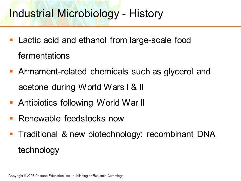 Industrial Microbiology - History