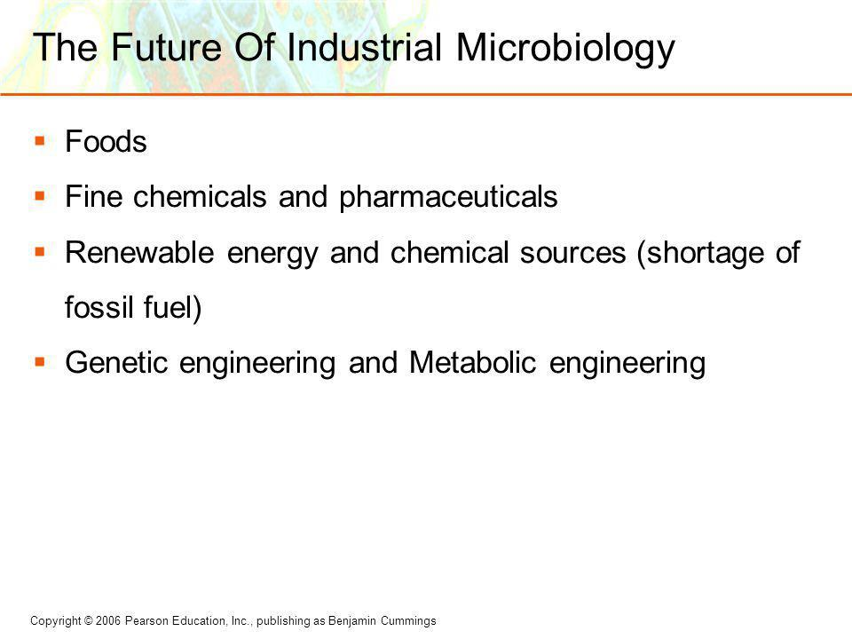 The Future Of Industrial Microbiology