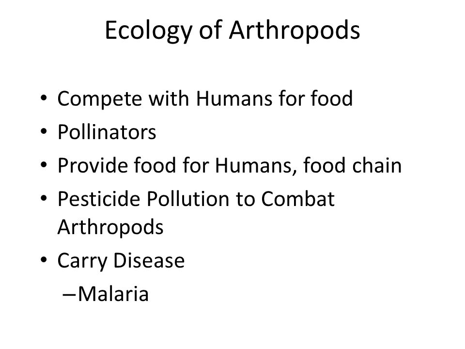 Ecology of Arthropods Compete with Humans for food Pollinators