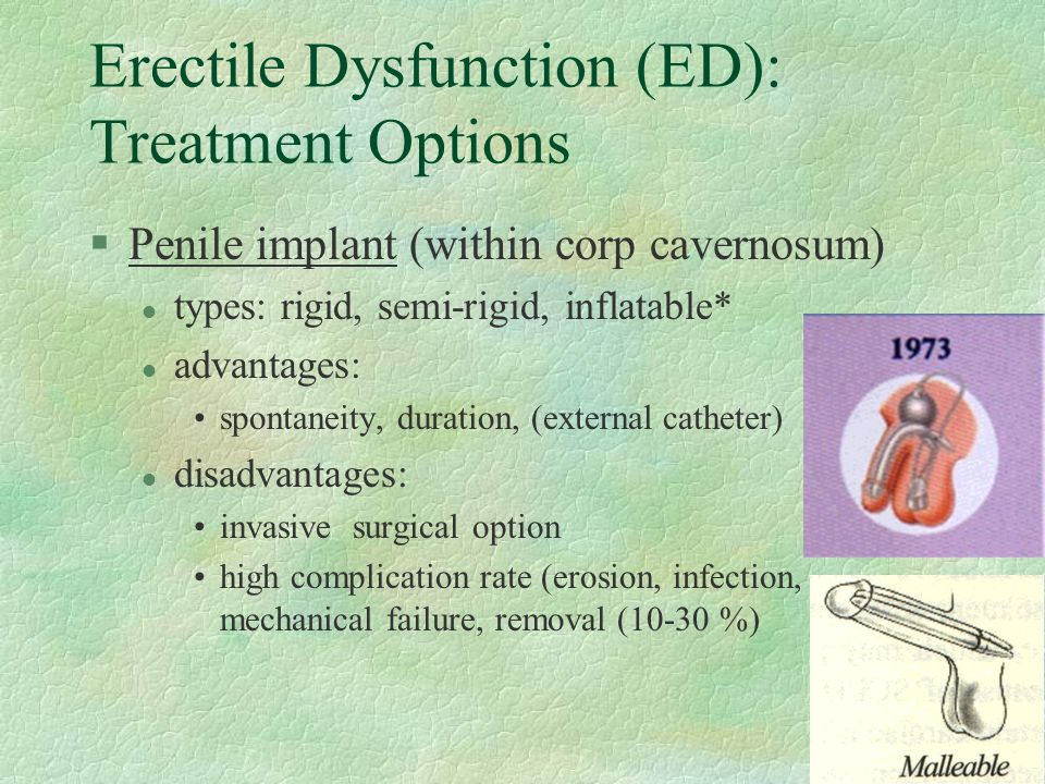 Erectile Dysfunction (ED): Treatment Options