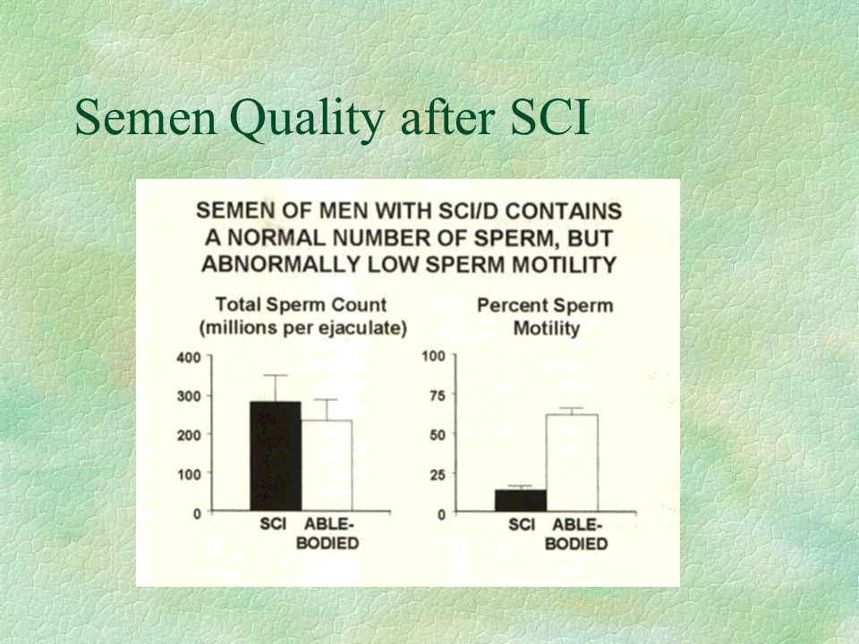 Semen Quality after SCI