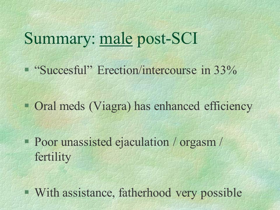 Summary: male post-SCI