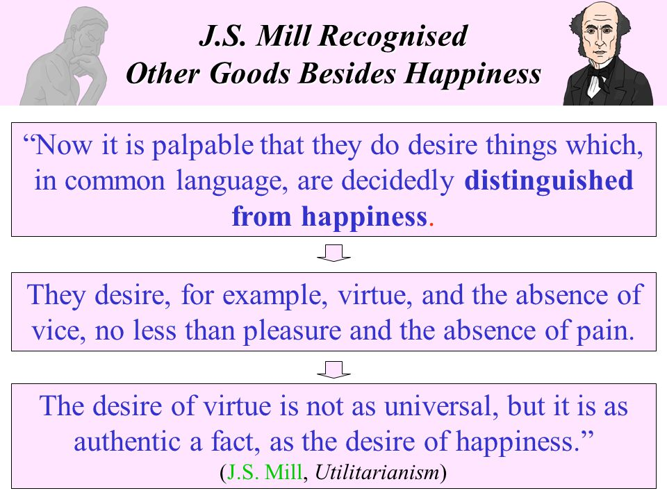 J.S. Mill Recognised Other Goods Besides Happiness
