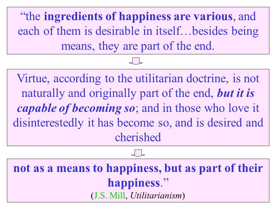 not as a means to happiness, but as part of their happiness.