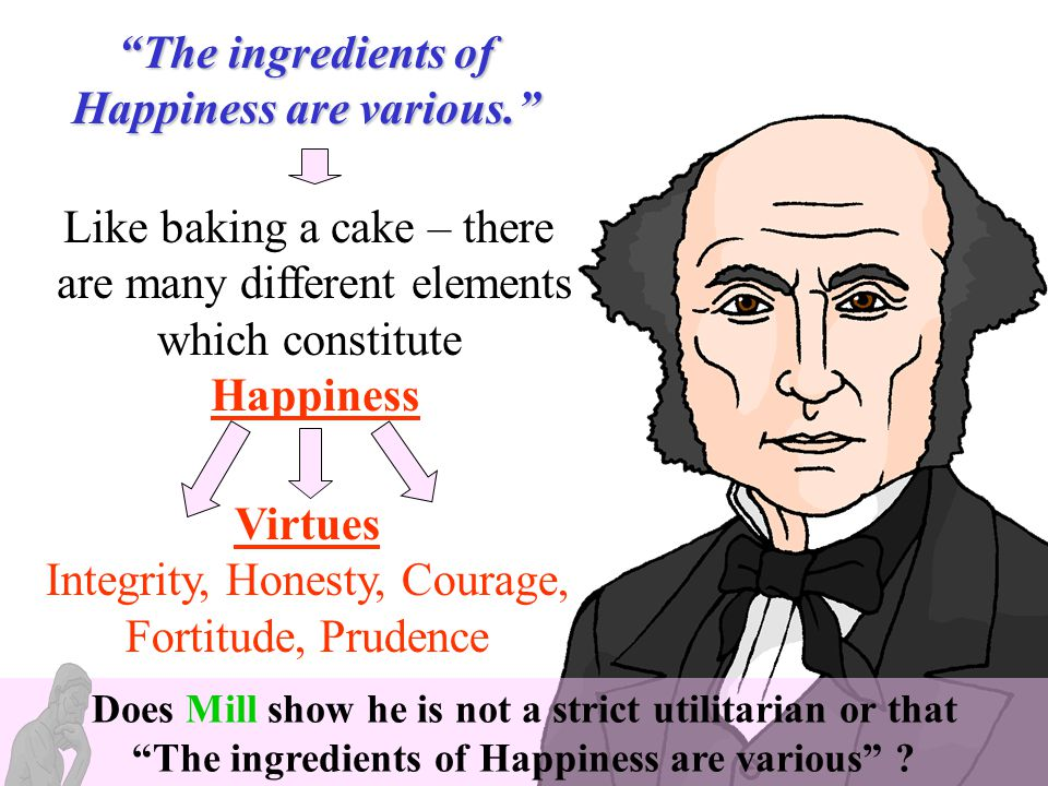 The ingredients of Happiness are various. Happiness Virtues