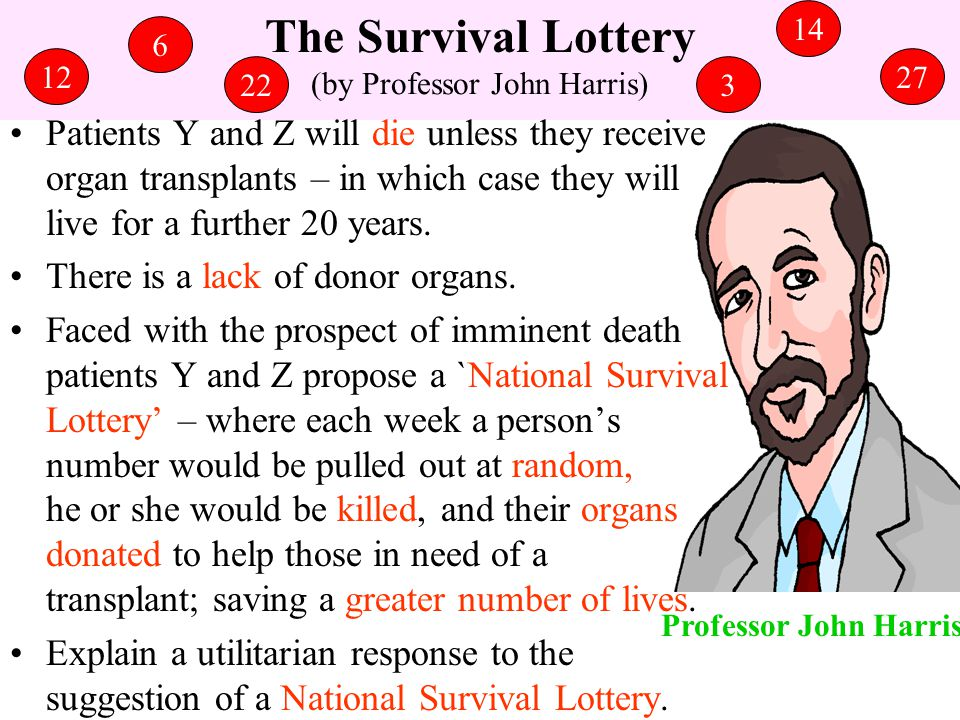 The Survival Lottery (by Professor John Harris)