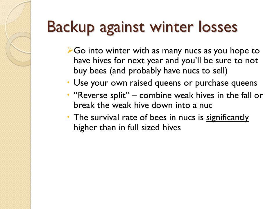 Backup against winter losses
