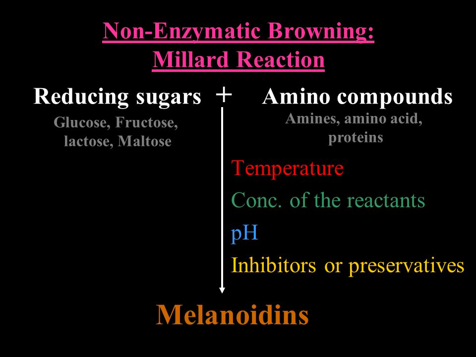 Non-Enzymatic Browning: Millard Reaction