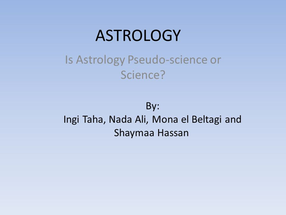Is Astrology Pseudo-science or Science