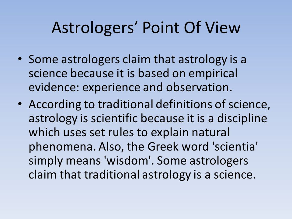 Astrologers' Point Of View