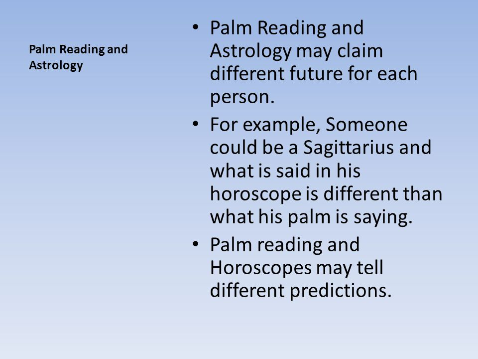 Palm Reading and Astrology
