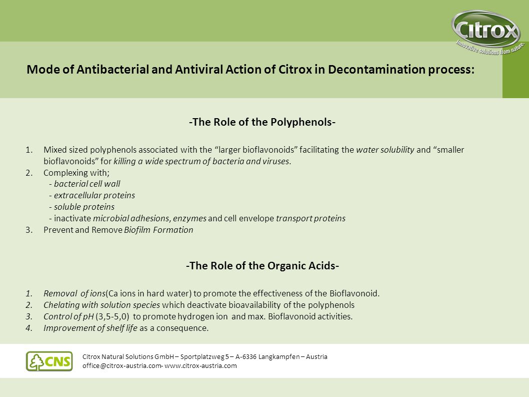 -The Role of the Polyphenols- -The Role of the Organic Acids-