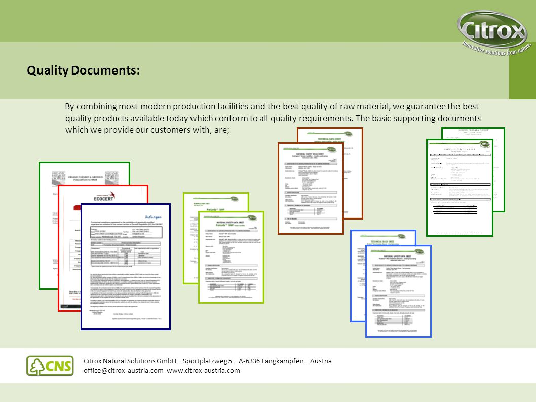 Quality Documents: