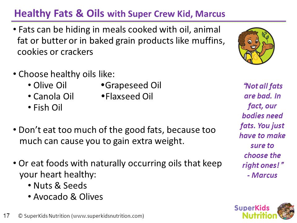 Healthy Fats & Oils with Super Crew Kid, Marcus