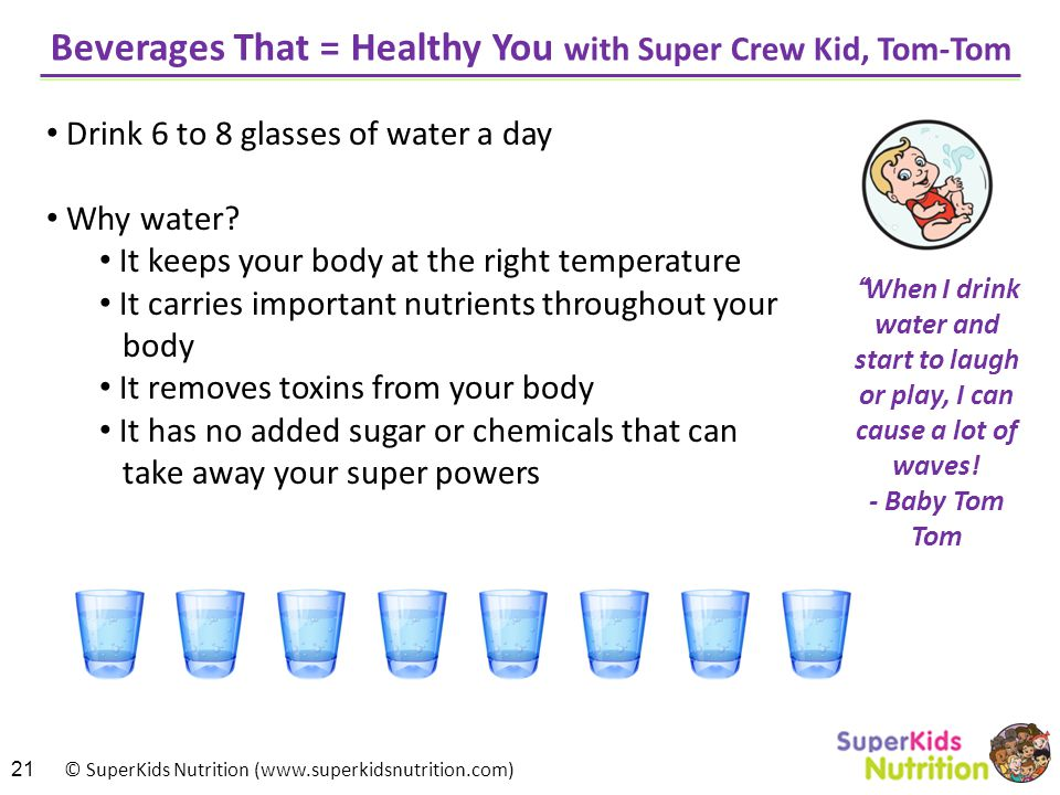 Beverages That = Healthy You with Super Crew Kid, Tom-Tom