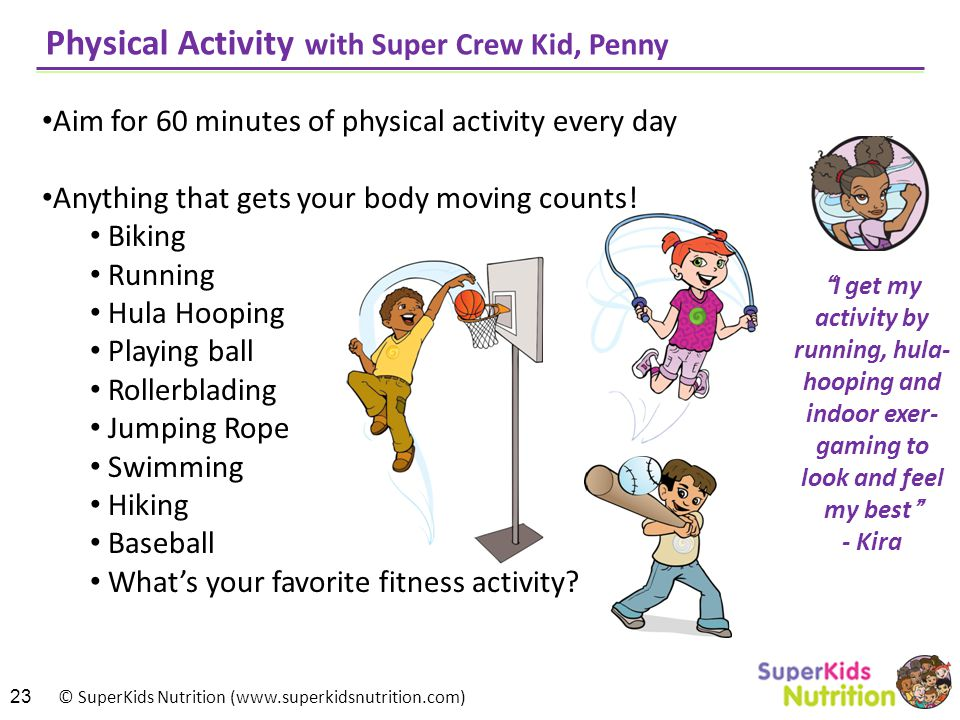 Physical Activity with Super Crew Kid, Penny