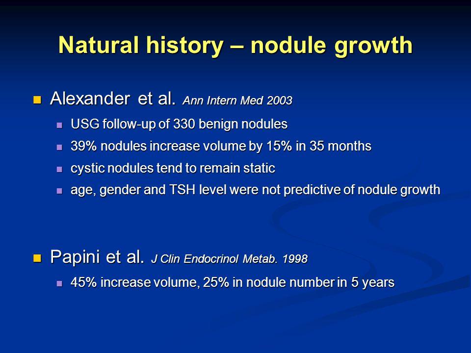 Natural history – nodule growth