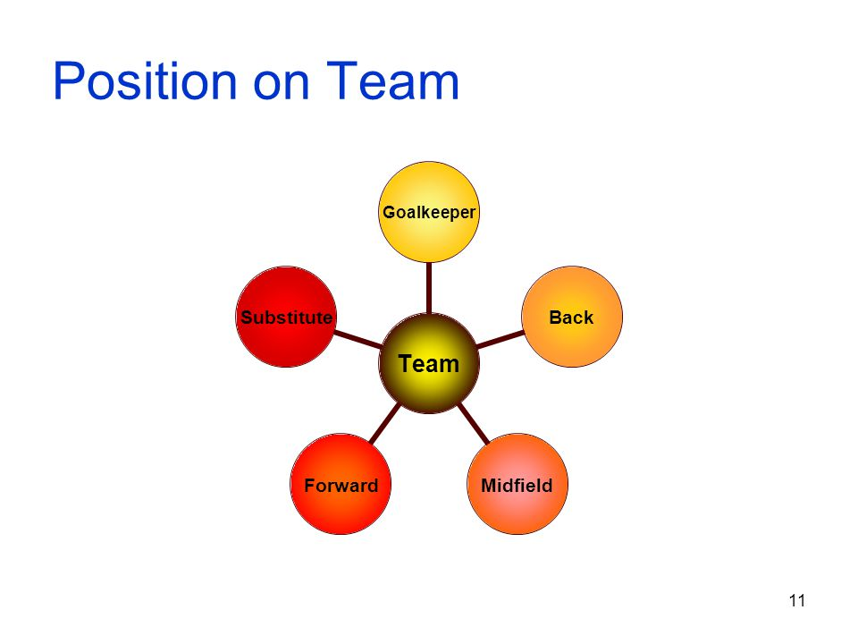 Position on Team