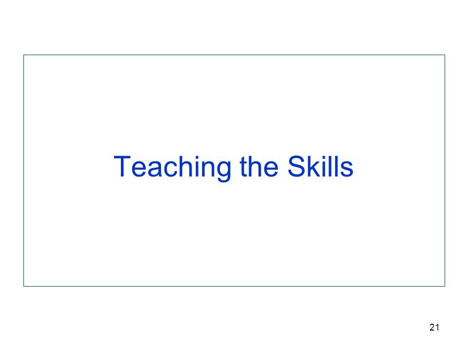 Teaching the Skills