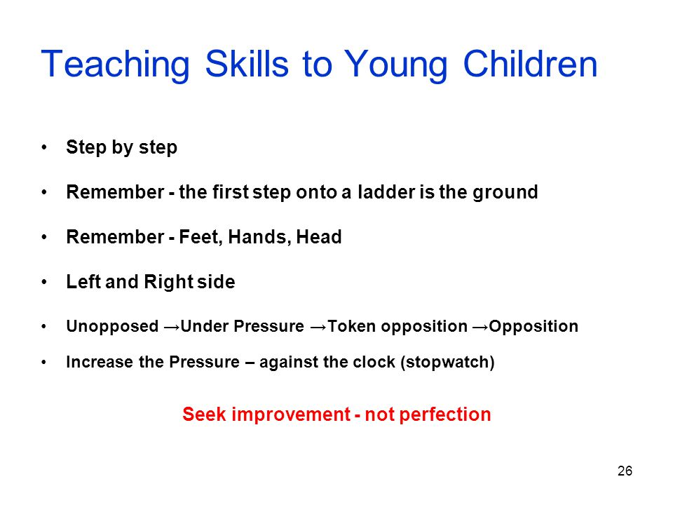 Teaching Skills to Young Children
