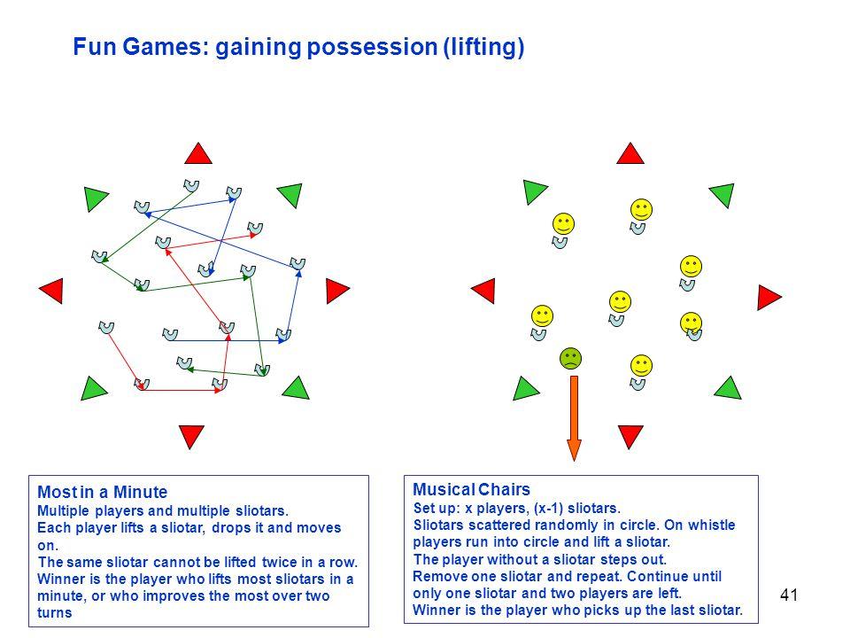 Fun Games: gaining possession (lifting)