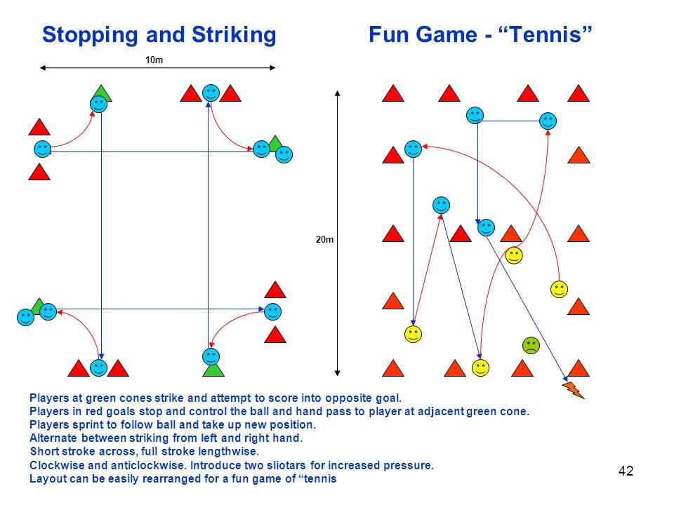 Stopping and Striking Fun Game - Tennis